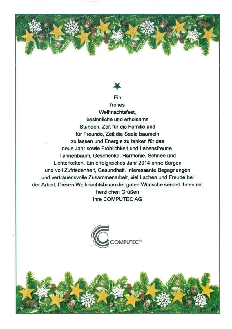 Der weihnachtsbaum der guten wunsche